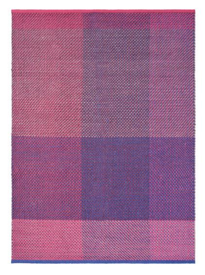 różowo fioletowy dywan kilimowy Check Burgundy 56400