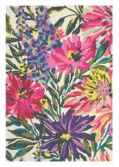 różowo fioletowy dywan w kwiaty Floreale Fuschia 44905