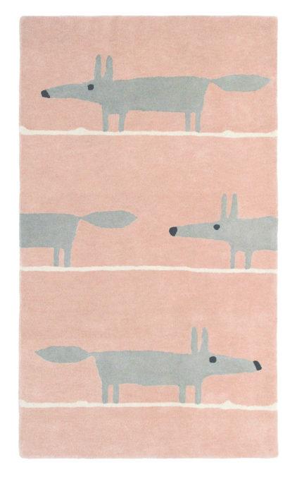 różowy dywan dziecięcy Mr Fox Blush 25302