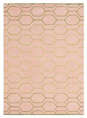 różowy dywan geometryczny Arris Pink 37302