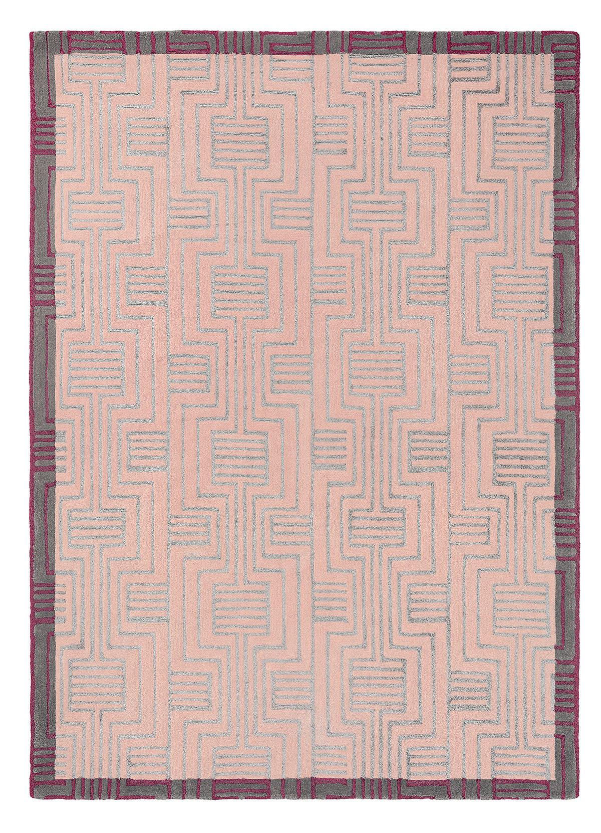 różowy dywan geometryczny Kinmo Pink 56802