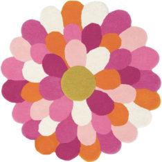różowy dywan okrągły - Funky Flower 42702