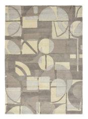szaro beżowy dywan geometryczny Segments Stone 41901