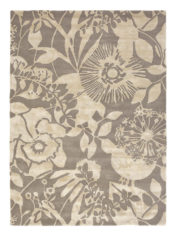 szaro beżowy dywan w kwiaty Coquette Slate 41104