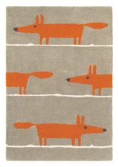 szaro pomarańczowy dywan dziecięcy Mr Fox Cinnamon 25303