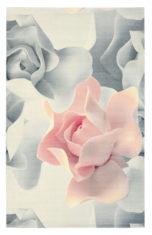 szaro różowy dywan w kwiaty Porcelain Rose 57402