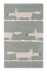 szary dywan dziecięcy Mr Fox Silver 25304