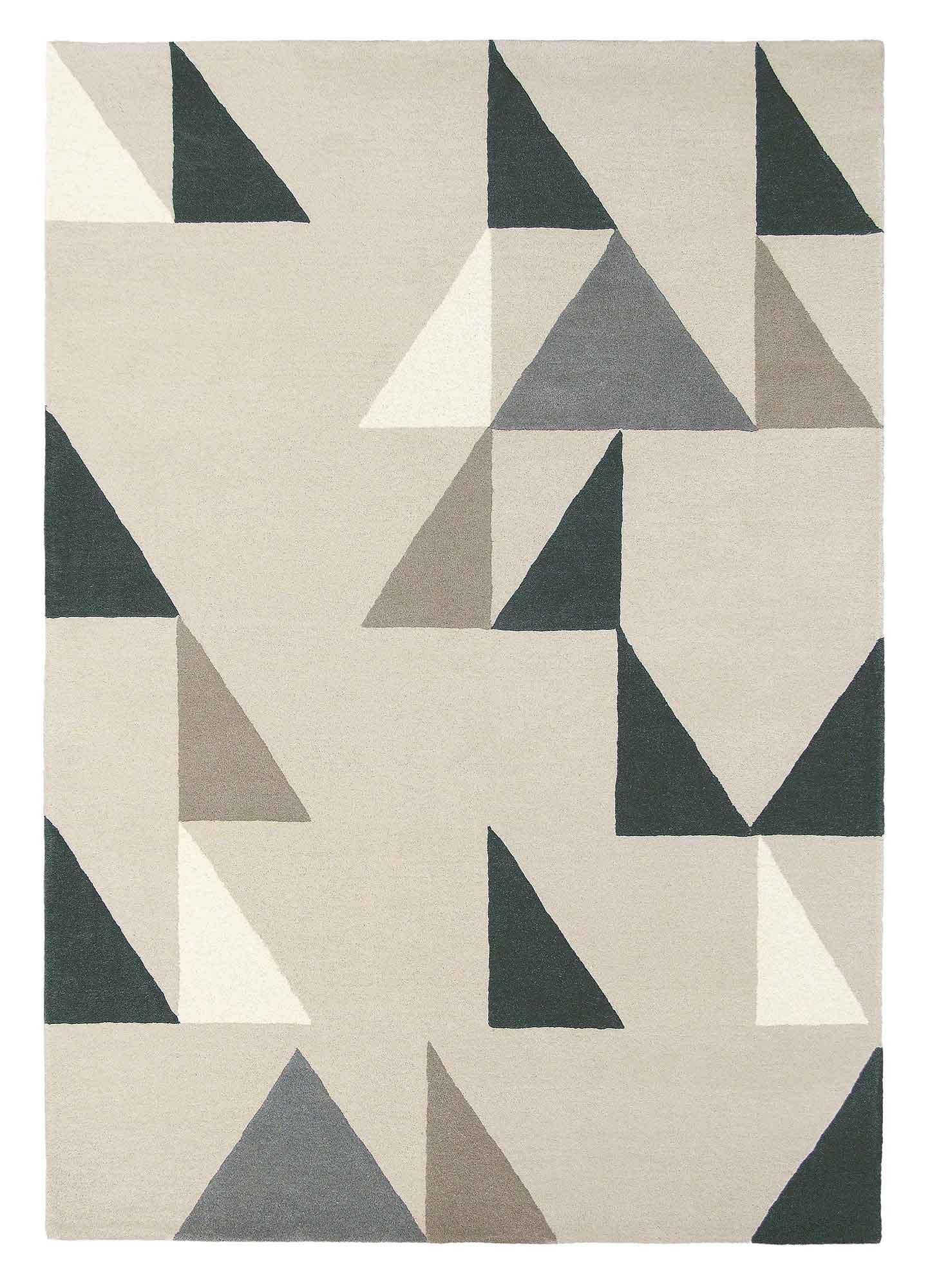 szary dywan geometryczny Modul Charcoal 26704