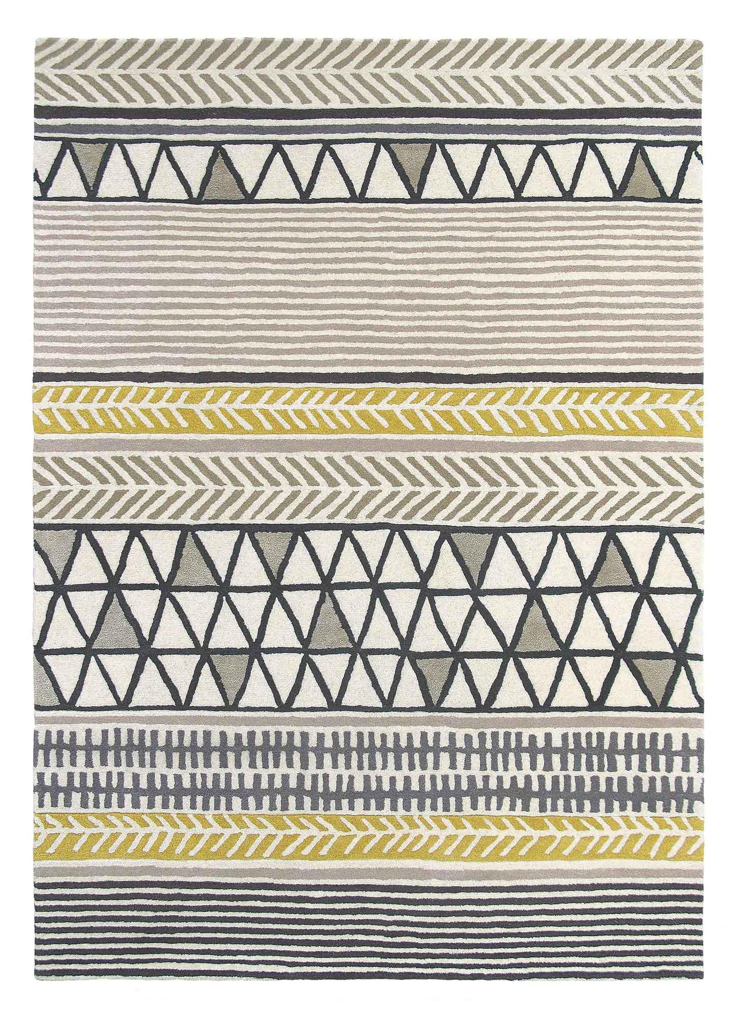 szary dywan geometryczny Raita Taupe 24701