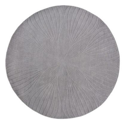 szary dywan okrągly Folia Round Grey 38305