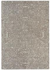 szary dywan w kwiaty Ceiling Taupe 28501