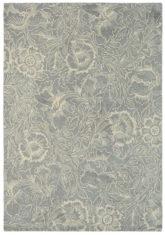 szary dywan w kwiaty Poppy Dove 28404