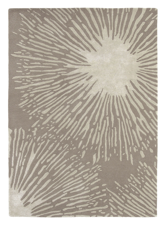szary dywan w kwiaty Shore Stone 40601