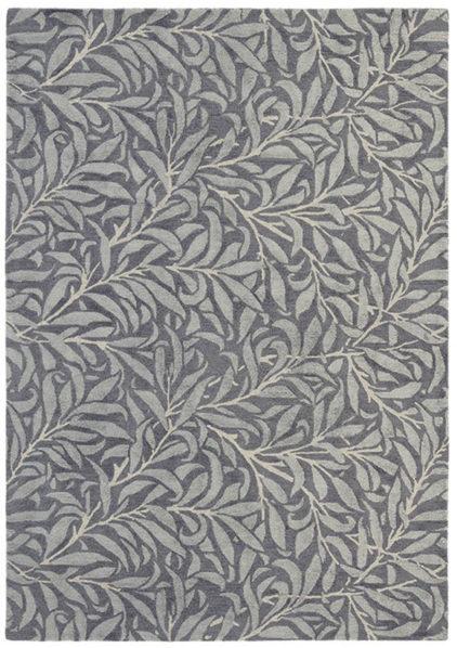 szary dywan w kwiaty Willow Bought Granite 28305