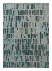 turkusowo szary dywan geometryczny Skintilla Kingfisher 41707