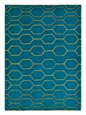 turkusowy dywan geometryczny Arris Teal 37307
