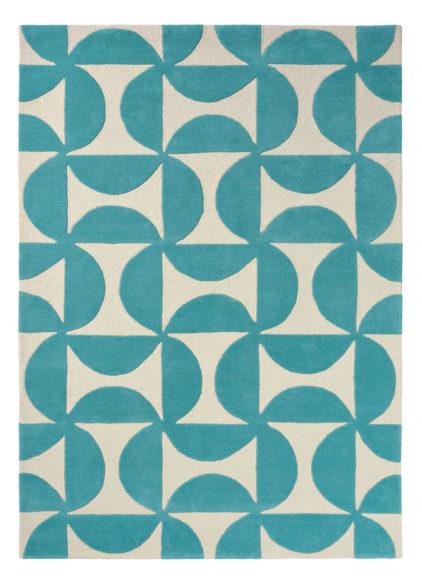 turkusowy dywan geometryczny Forma Marine 26207