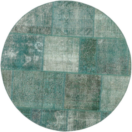 turkusowy dywan okrągły perski Round Teal 0993