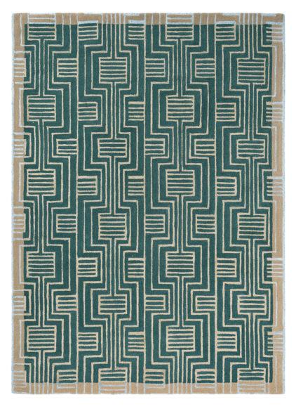 zielony dywan geometryczny Kinmo Green 56807