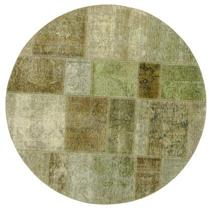 zielony dywan okrągły perski Round Green 0995