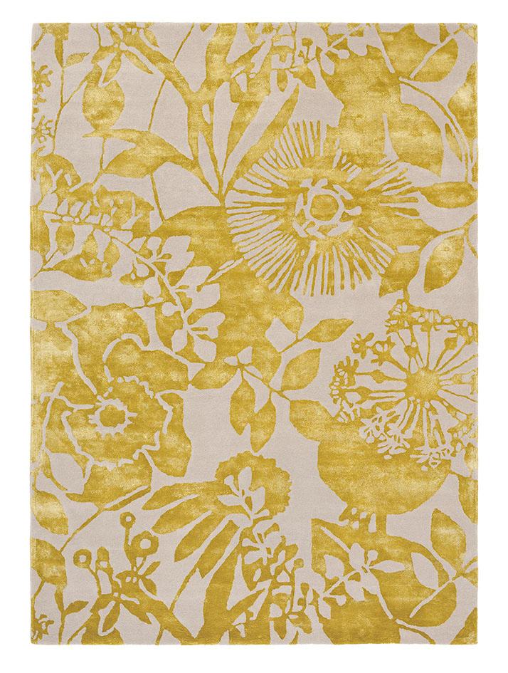 złoty dywan w kwiaty Coquette Zest 41106