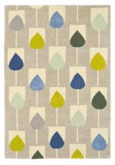 Żółto Niebieski Dywan w Kwiaty - SULA PACIFIC 24307