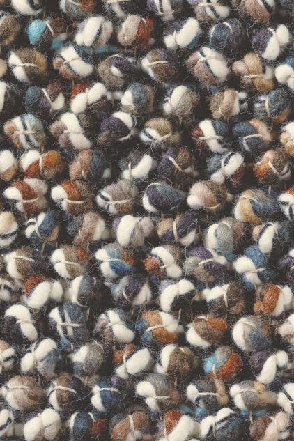 biało niebieski dywan pleciony Marble 29505