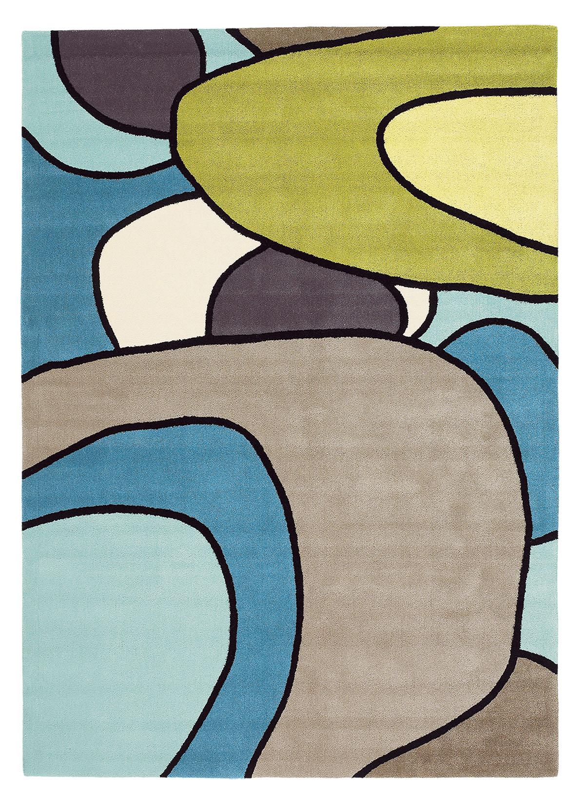 niebiesko zielony dywan nowoczesny Estella Comic 875008