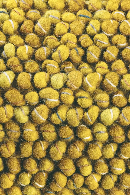 żółty dywan pleciony Cobble 29206