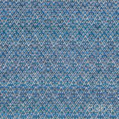 Giorgio 8964 wykładzina w zygzak niebieska