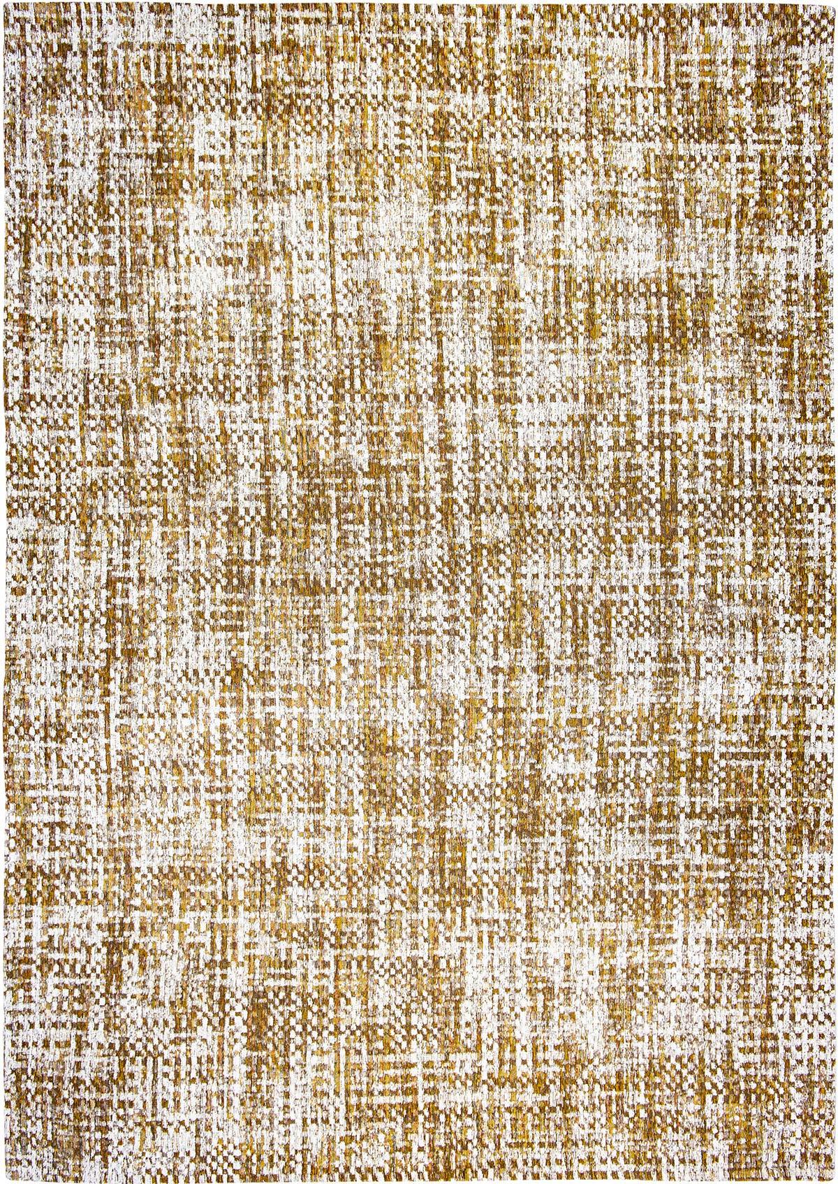 Brązowo Żółty Dywan w Kratkę - CITRINE LOAD 8892