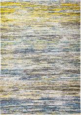 Żółto Niebieski Dywan w Paski - BLUE YELLOW MIX 8873