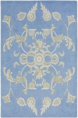Niebieski Dywan Geometryczny Persia Blue 37718 - widok z góry