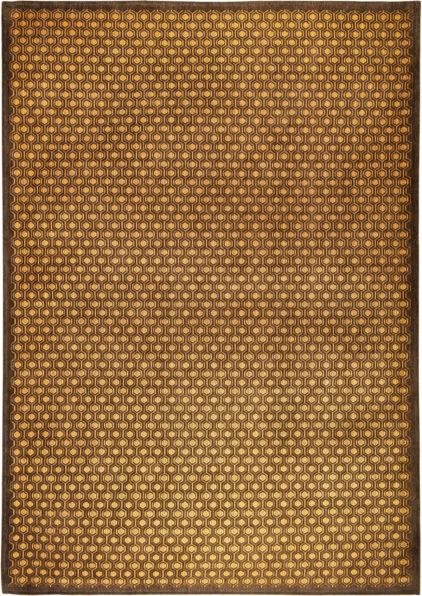 Brazowo zloty nowoczesny dywan Nuovo Oro 9014