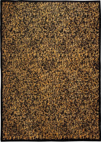 Czarno pomaranczowy nowoczesny dywan Gattopardo Bagera 9033