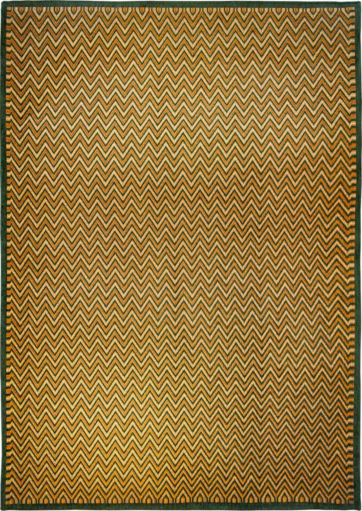 Pomaranczono Zielony nowoczesny dywan Dolomiti Verde Ferro 9013