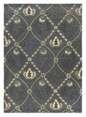 Czarny Dywan We Wzory - TRELLIS BLACK INK 29105 - widok z góry