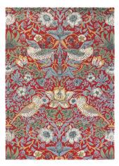 Czerwony Dywan w Kwiaty - STRAWBERRY THIEF CRIMSON 27700 - widok z góry