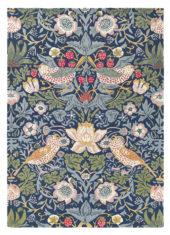 Niebiesko Zielony Dywan w Kwiaty - STRAWBERRY THIEF INDIGO 27708