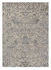 Szaro Beżowy Dywan w Kwiaty - STRAWBERRY THIEF INK 28105 - widok z góry