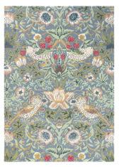 zielony dywan w kwiaty Strawberry Thief Slate 27718