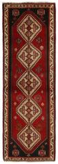 Czerwony Dywan Perski - KASHGHAI 1358510 - rozmiar 265x92 cm - widok z góry
