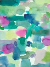Abstrakcyjny Wielokolorowy Dywan Artystyczny- ROTHESAY 015707 - widok z góry