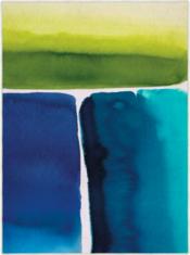 Abstrakcyjny Niebiesko Żółty Dywan Artystyczny- MURALLA AZURE 150108 - widok z góry
