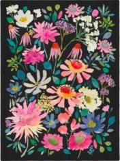 Wielokolorowy Dywan w Kwiaty- ZINNIA 016505 - widok z góry