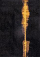 Czarny dywan abstrakcyjny Linares Black 9055