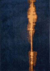 Granatowy Dywan Abstrakcyjny Linares Navy 9056