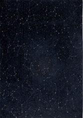 Granatowo Czarny Nowoczesny DywanCELESTIAL NIGHT SKY 9059