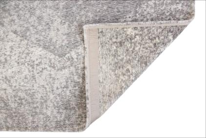 beżowy dywan geometryczny lisboa raw topaz 9054 zawinięty róg