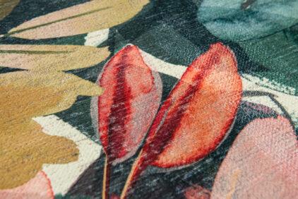 drukowany kwiatowy dywan ESTIVAL CALIENTE 8446 czerwony kwiat